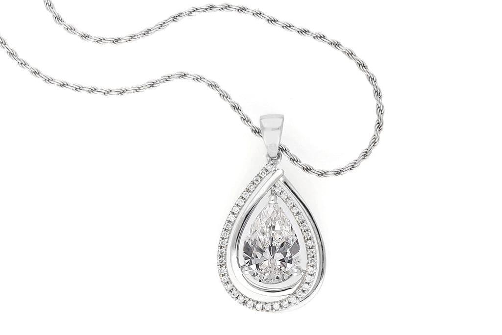 Pear-shaped diamonds
